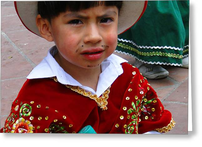 Cuenca Kids 54 Greeting Card by Al Bourassa