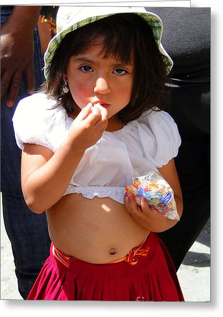 Christmas Eve Greeting Cards - Cuenca Kids 60 Greeting Card by Al Bourassa