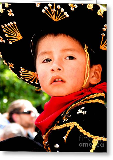 Christmas Eve Greeting Cards - Cuenca Kids 64 Greeting Card by Al Bourassa