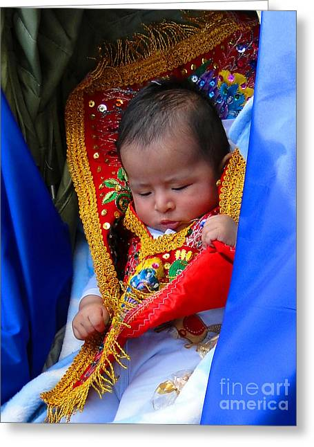 Innocence Child Greeting Cards - Cuenca Kids 66 Greeting Card by Al Bourassa