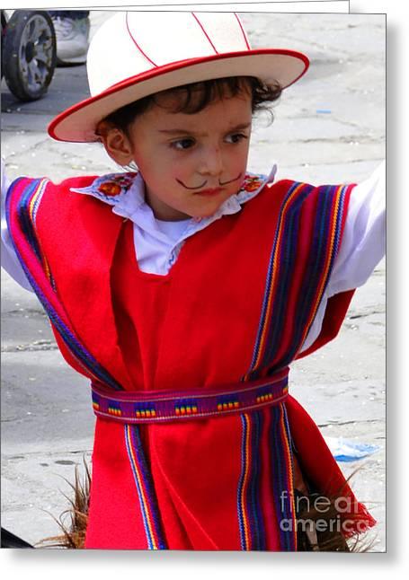 Cuenca Kids 68 Greeting Card by Al Bourassa