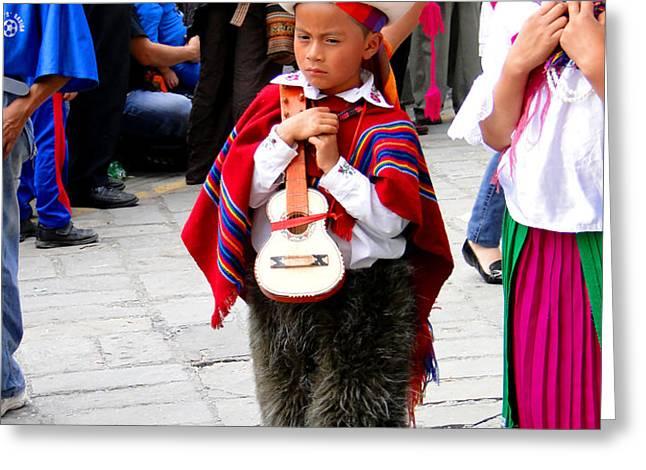 Cuenca Kids 91 Greeting Card by Al Bourassa