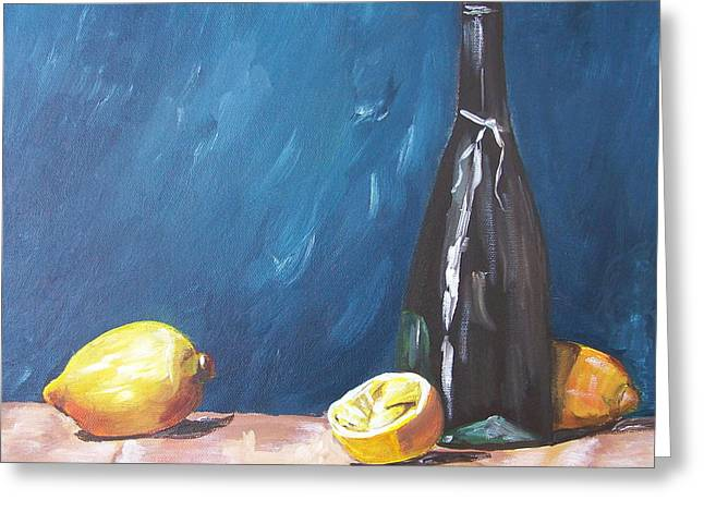 Recently Sold -  - Table Wine Greeting Cards - Culinary Greeting Card by Barbara Ruzzene
