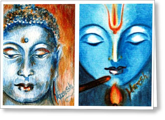 Mythical Series Greeting Cards - Cultural Diversity Greeting Card by Harsh Malik