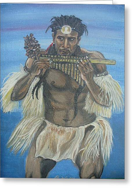 Panpipes Greeting Cards - Culture Greeting Card by Calvin Charles