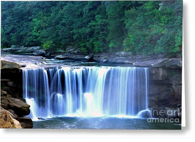 Cumberland River Greeting Cards - Cumberland Falls Greeting Card by Thomas R Fletcher