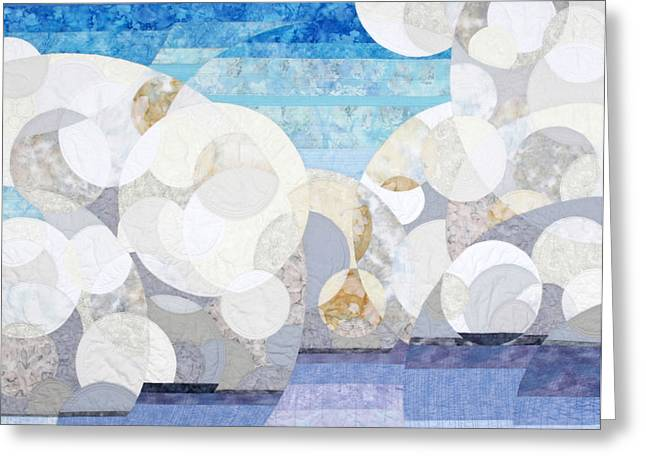 Clouds Tapestries - Textiles Greeting Cards - Cumulonimbus Greeting Card by Linda Beach