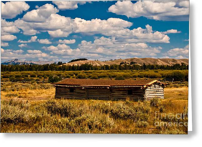 Log Cabins Greeting Cards - Cunningham Cabin II Greeting Card by Robert Bales