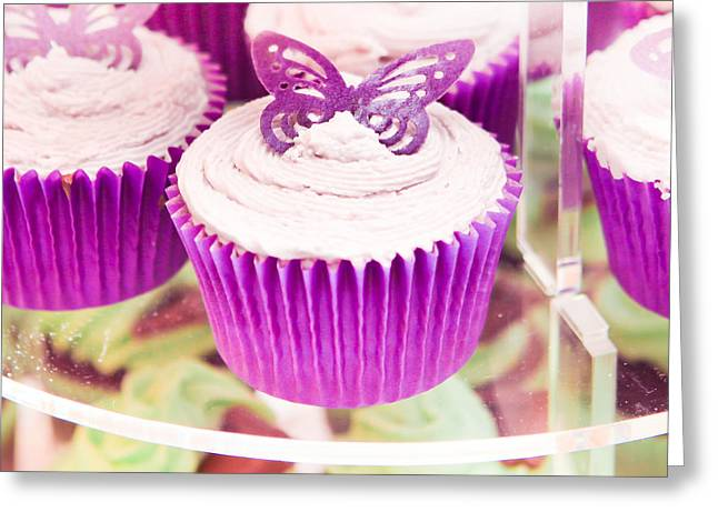 Recently Sold -  - Candle Stand Greeting Cards - Cup cakes Greeting Card by Tom Gowanlock