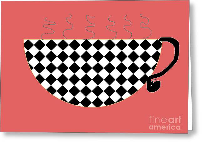 Cup O Joe Greeting Card by Jeannie Atwater Jordan Allen