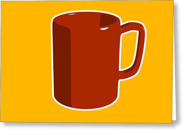 Coffee Greeting Cards - Cup of Coffee Graphic Image Greeting Card by Pixel Chimp