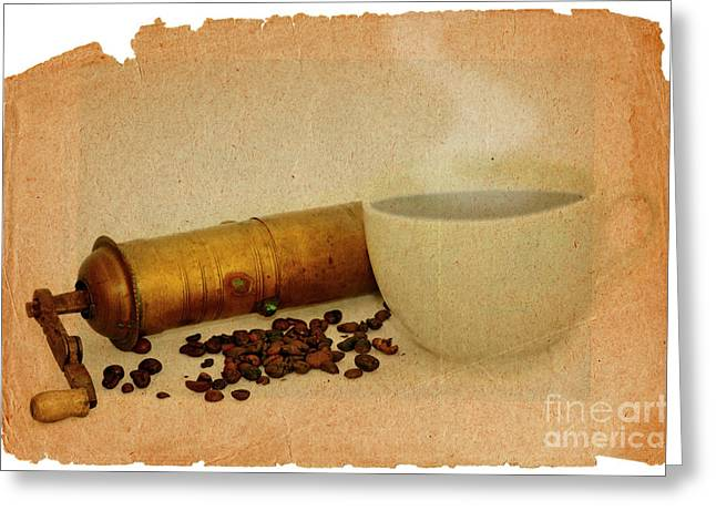 Old Grinders Digital Art Greeting Cards - Cup Of Coffee Greeting Card by Michal Boubin