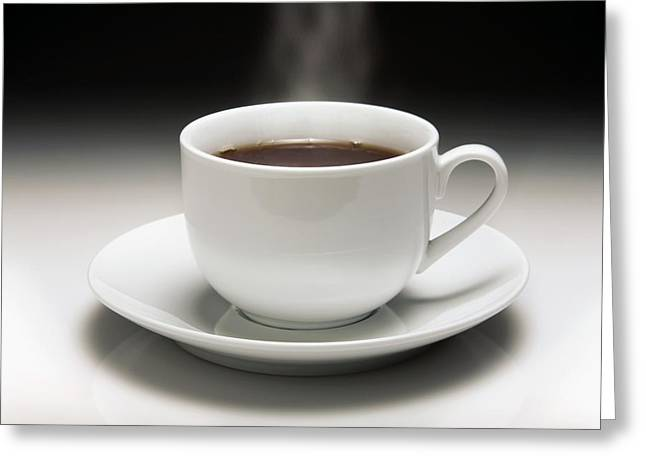 White China Cup Greeting Cards - Cup Of Coffee Greeting Card by Victor De Schwanberg