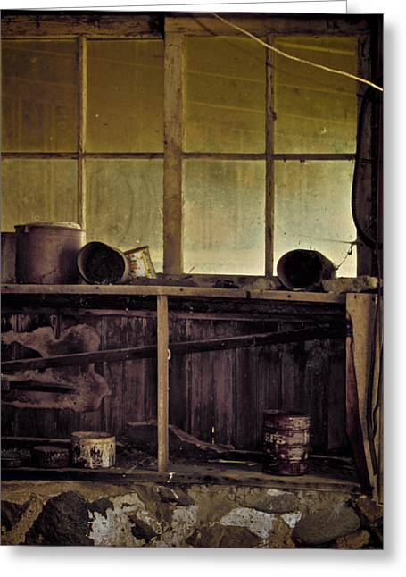 Rural Decay Greeting Cards - Cupboard Is Bare Greeting Card by Odd Jeppesen