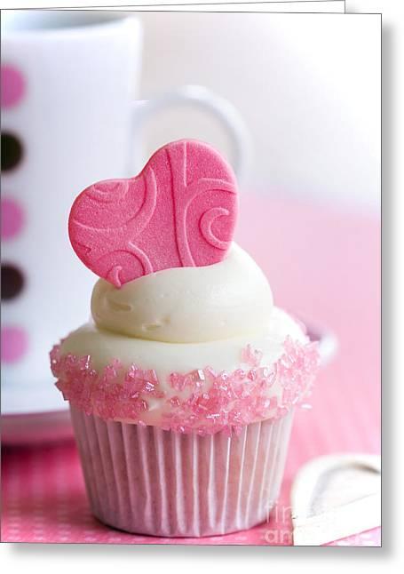 Fondant Greeting Cards - Cupcake love Greeting Card by Ruth Black