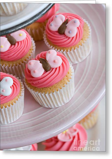 Tea Party Greeting Cards - Cupcake selection Greeting Card by Ruth Black
