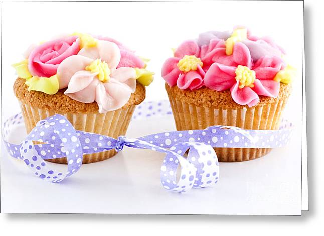 Cupcakes Greeting Card by Elena Elisseeva