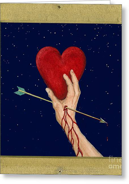 Heartbroken Greeting Cards - Cupids Arrow Greeting Card by Charles Harden