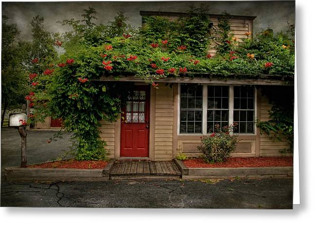 Curb Appeal Greeting Card by Robin-lee Vieira