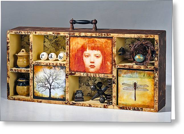 Curious Cabinet Greeting Card by Susan McCarrell