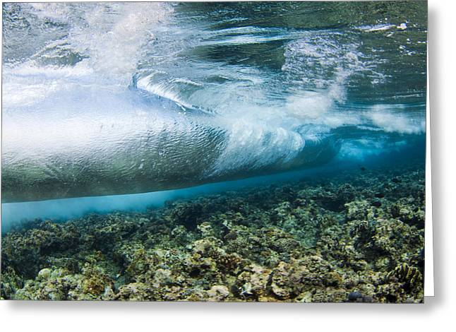Unique View Greeting Cards - Curl of Wave from Underwater Greeting Card by Dave Fleetham - Printscapes