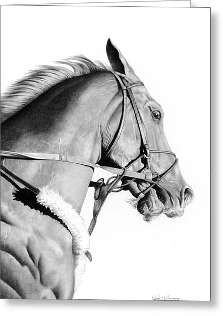 Curlin Greeting Card by Christopher A Newman