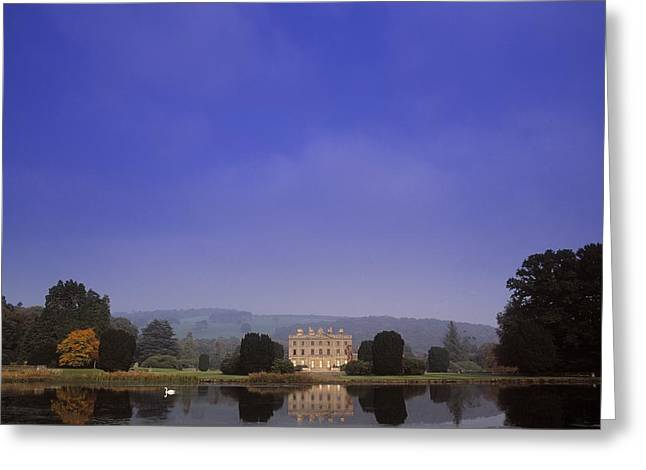Statuary Garden Greeting Cards - Curraghmore House, Portlaw, Co Greeting Card by The Irish Image Collection