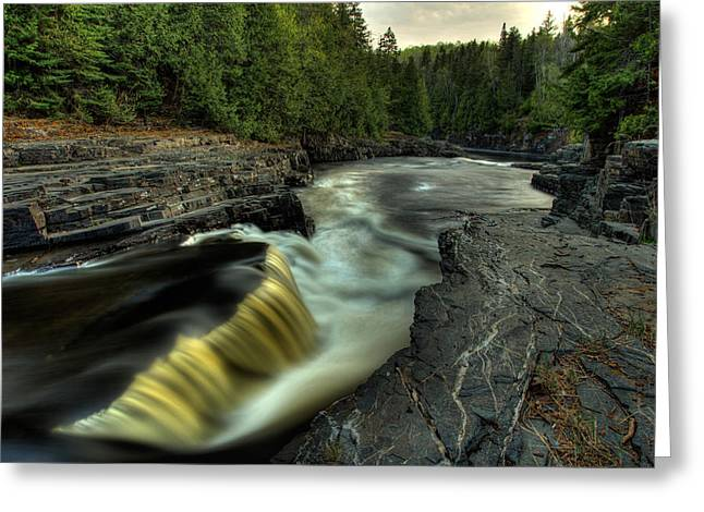 Current River Greeting Cards - Current River Falls Greeting Card by Jakub Sisak