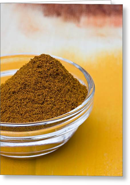 Curry Powder Greeting Card by Frank Tschakert