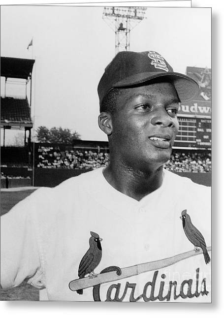 Floods Greeting Cards - Curt Flood (1938- ) Greeting Card by Granger