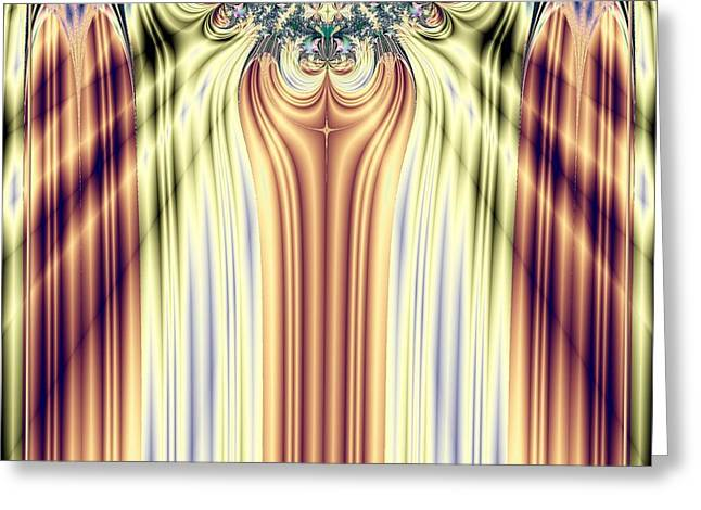Award Digital Greeting Cards - Curtain Call Spotlights Fractal 133 Greeting Card by Rose Santuci-Sofranko