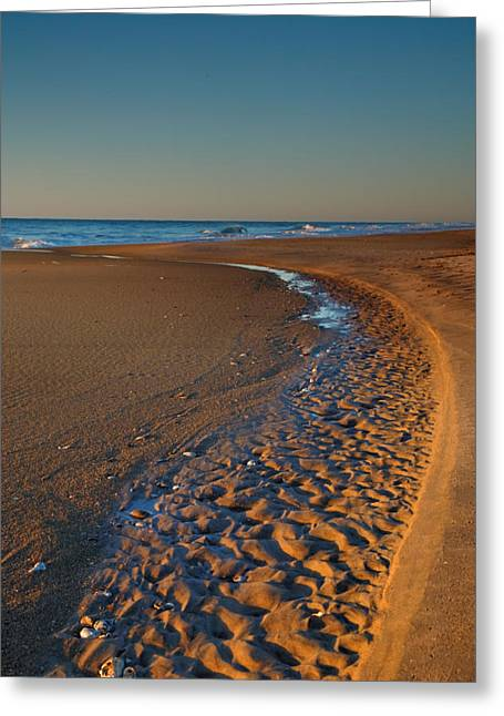 Beach Photographs Greeting Cards - Curving To The Sea I Greeting Card by Steven Ainsworth
