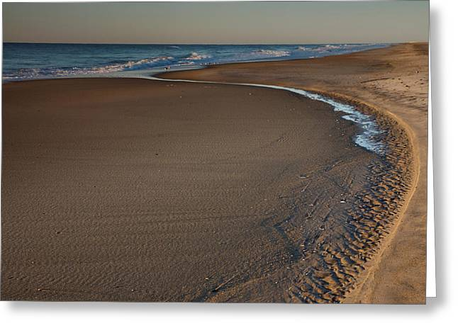 Beach Photographs Greeting Cards - Curving To The Sea II Greeting Card by Steven Ainsworth