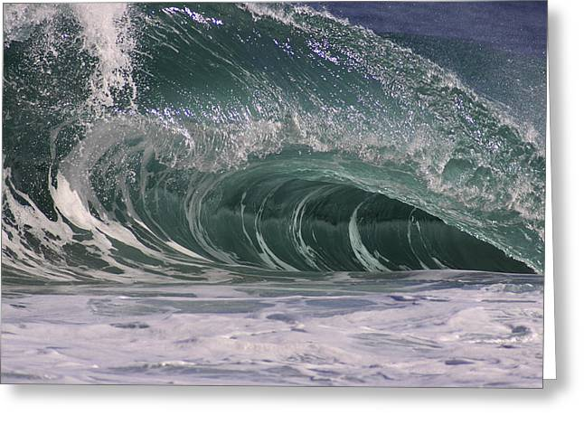 Vince Greeting Cards - Curving Wave Greeting Card by Vince Cavataio