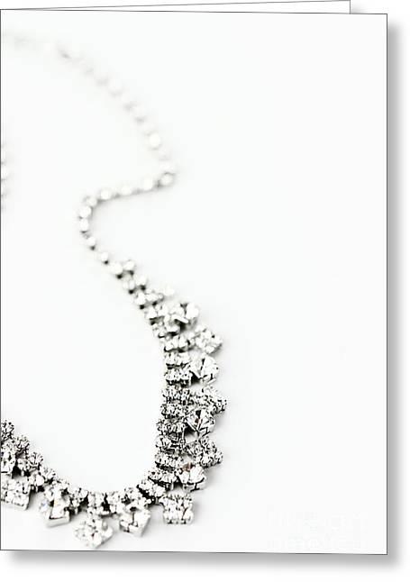 Shiny Necklace Greeting Cards - Curvy Greeting Card by Stephanie Frey