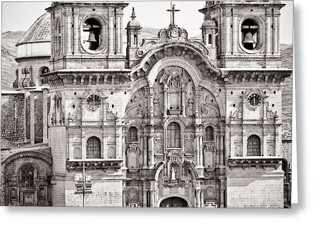 Cusco Cathedral Greeting Card by Darcy Michaelchuk