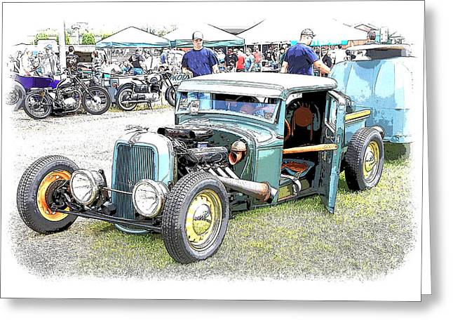 32 Ford Truck Greeting Cards - Custom 32 Ford Pickup Greeting Card by Steve McKinzie