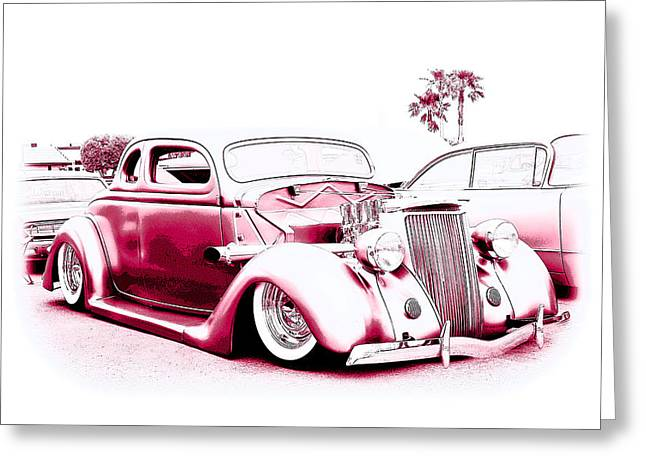 1932-1937 Greeting Cards - Custom 36 Ford Coupe Greeting Card by Steve McKinzie
