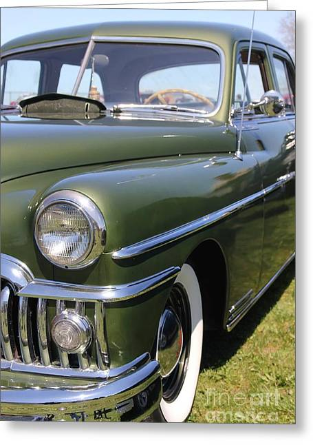 Desoto Car Greeting Cards - Custom Desoto 1950 Greeting Card by Sophie Vigneault