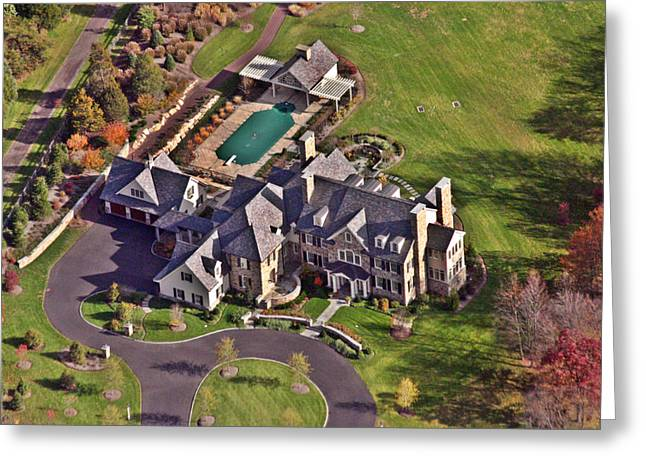 Plymouth Meeting Aerials Greeting Cards - Custom Home Blue Bell Pennsylvania II Greeting Card by Duncan Pearson