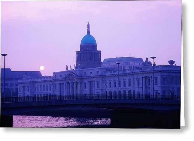 Custom House, Dublin, Co Dublin, Ireland Greeting Card by The Irish Image Collection