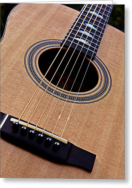 Guitars Photographs Greeting Cards - Custom Made Guitar Greeting Card by Garry Gay