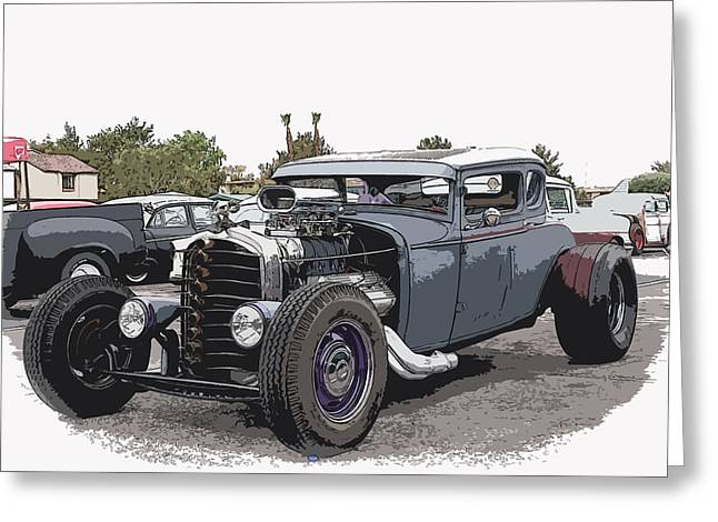 1932-1937 Greeting Cards - Custom Model A Coupe Greeting Card by Steve McKinzie