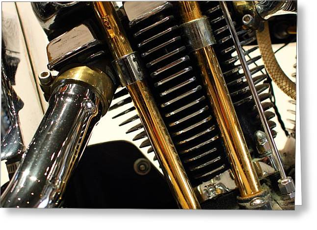 Custom Motorcycle Chopper . 7D13318 Greeting Card by Wingsdomain Art and Photography