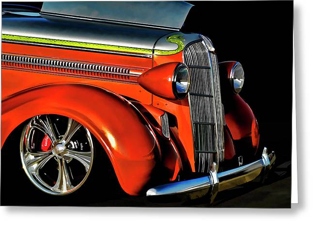 Mopar Greeting Cards - Custom Orange 36 Dodge Greeting Card by Douglas Pittman