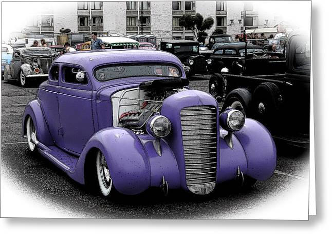 Recently Sold -  - 1949 Plymouth Greeting Cards - Custom Purple 35 Ford Greeting Card by Steve McKinzie
