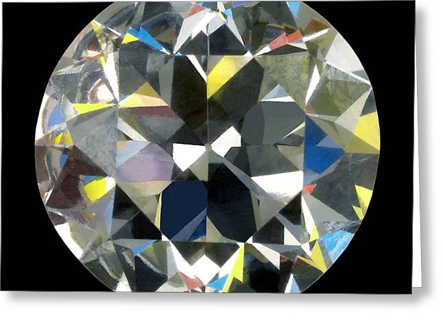 Jewellery Greeting Cards - Cut And Polished Diamond Greeting Card by Jon Stokes