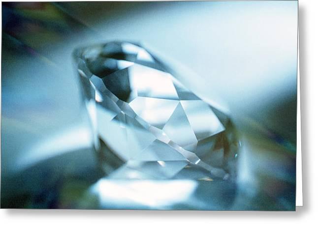 Valuable Greeting Cards - Cut Diamond Greeting Card by Pasieka