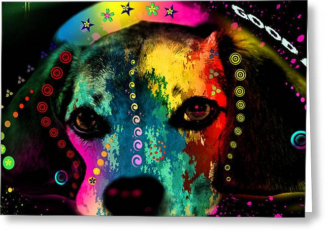 Pittie Greeting Cards - Cute Dog  Greeting Card by Mark Ashkenazi