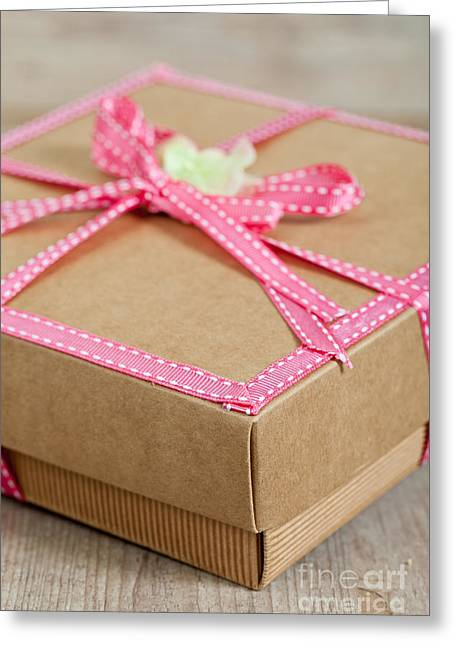Cardboard Greeting Cards - Cute present pack Greeting Card by Sabino Parente